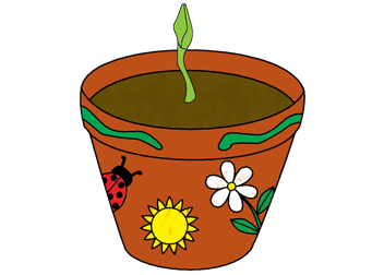 Flower Pot Illustration
