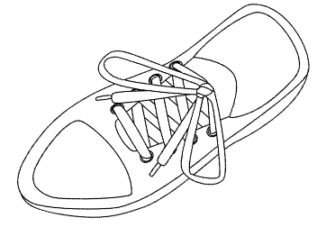 Tennis Shoe Illustration